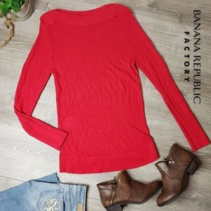 Banana republic factory XL red knitted sweater